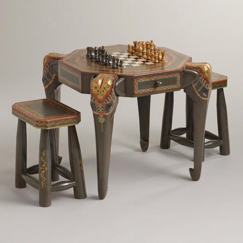 ELEPHANT~Gray Elephant Game Table Collection