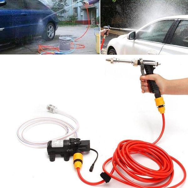 12v High Pressure Car Wash Power Water Pump Cleaner Sprayer Kit large capacity