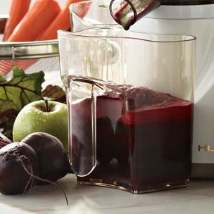 Apple-Beet-Carrot Juice    1 apple  2 beets  3 large carrots  1 (1-inch) piece of ginger  Spinach or kale (optional)