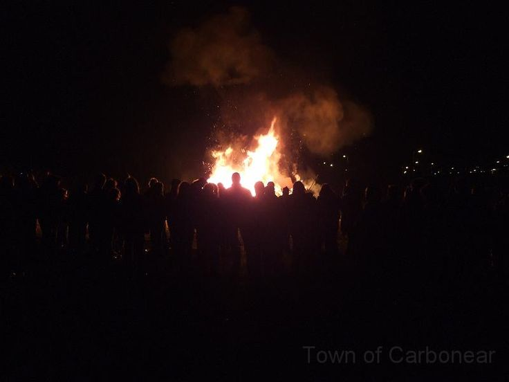 Bonfire Night in Conception Bay North
