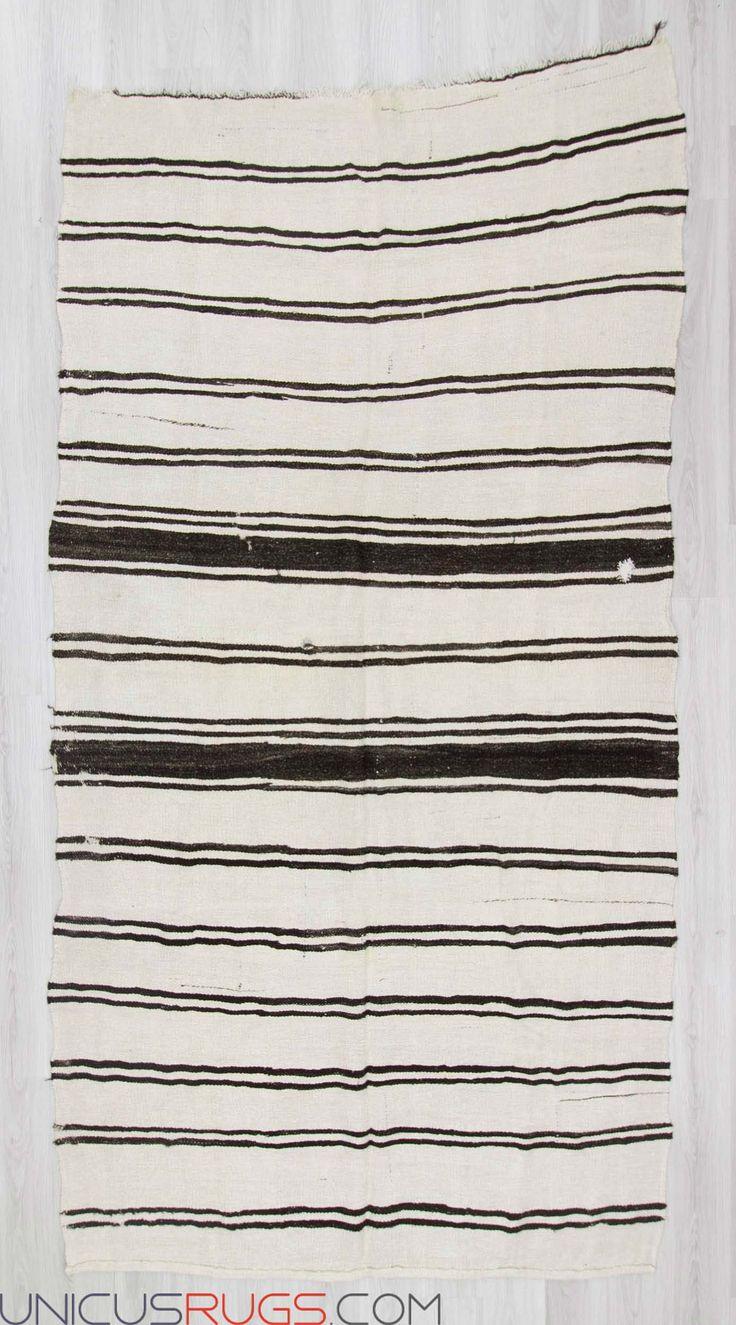 "Vintage hemp kilim rug from Yozgat region of Turkey. In good condition. Approximately 50-60 years old Width: 6' 5"" - Length: 11' 10"" Hemp Kilims"