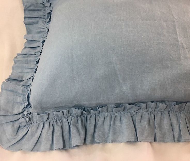 Duck Egg Blue Sham Cover with Vintage Ruffles Style Handmade in Natural Linen All sizes or Custom Size  http://ift.tt/2oEQneW  #shams #pillowcases #linenpillows   #shabbychicbedding #farmhouse #farmhousestyle #farmhousedecor  #cottagestyle #cottageliving #mycottageinstincts #farmhousechic #farmhousebedroom #farmhousebedding  #rufflebedding #ruffles #ruffleswithlove