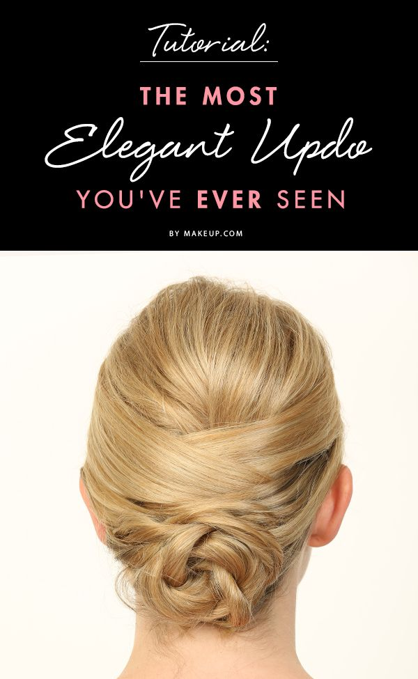 Formal hairstyles can sometimes seem impossible to DIY, but this elegant updo for medium length to long hair is easy enough that it'll save you a trip to the salon! Here's how to get the look.