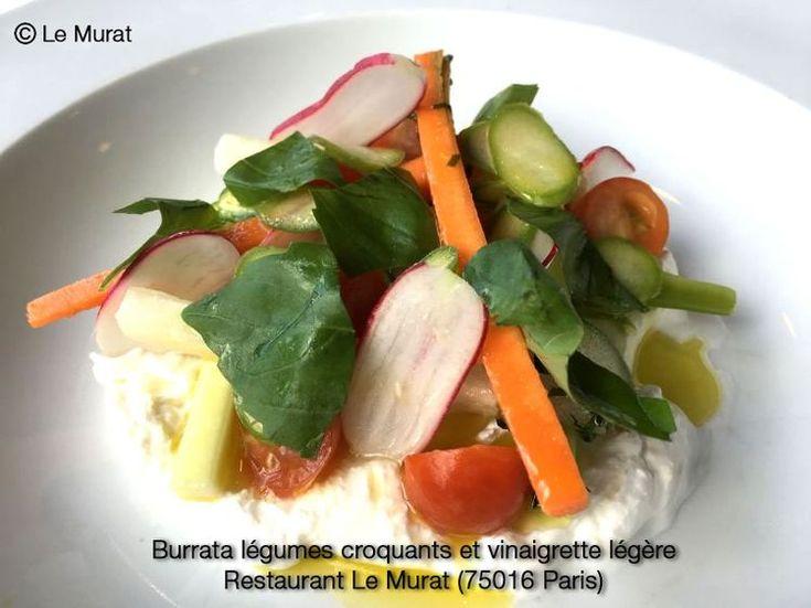 Découvrez la recette Burrata légumes croquants et vinaigrette légère sur cuisineactuelle.fr.