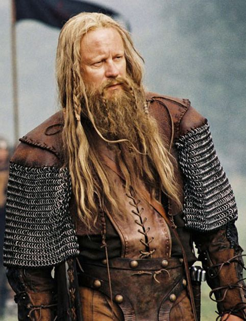 Stellan Skarsgard as a Saxon king, looking intimidating, gruff and yet oddly dashing.
