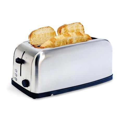 **PURCHASED 14 JULY 2016** 4-Slice Stainless Steel Long Slot Toaster
