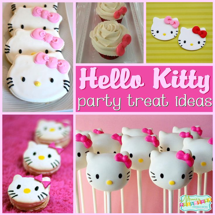 Hello Kitty Party: Sweet Kitty Treats. Nothing says Hello Kitty like some sweet kitty treats. Today I'm sharing some oh so yummy and super cute Hello kitty Party treats. Be sure to also check out all our Hello Kitty Party Ideas.