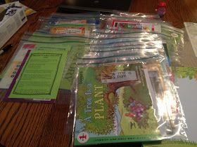 Take-home Book Bags! LOVE the tips parent letter!!