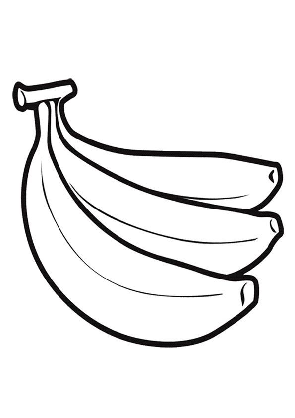 Three Banana Coloring Page For Kids In 2021 Coloring Pages For Kids Coloring Pictures For Kids Fruit Coloring Pages