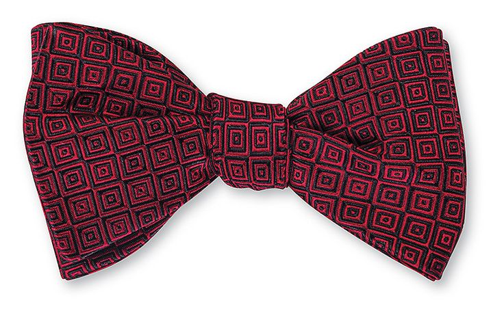 Pre tied bow tie - Pink base with small white dots Notch VaaEM0gXY