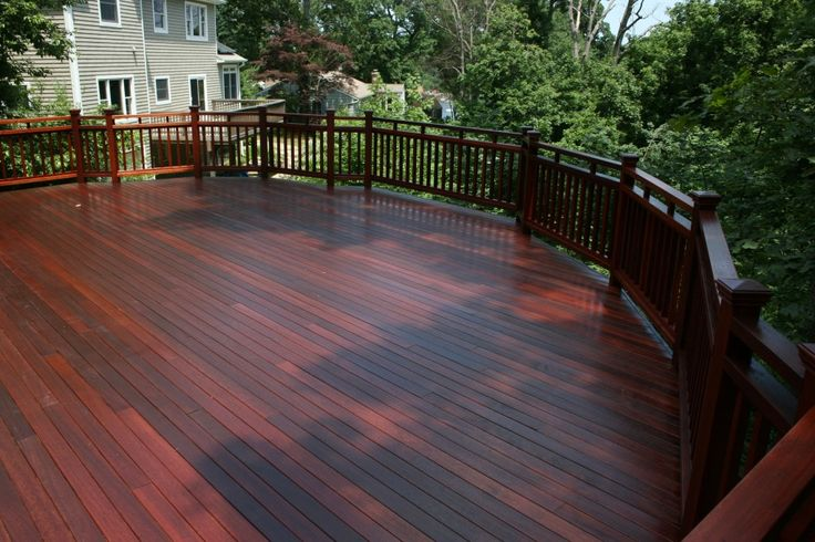mahogany decks | All Pro Painting Co. This is a brand new mahogany wood deck located in ...