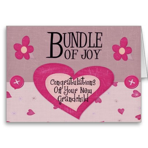 Congratulations On New Baby Girl Quotes: Congratulations New Grandparent Card