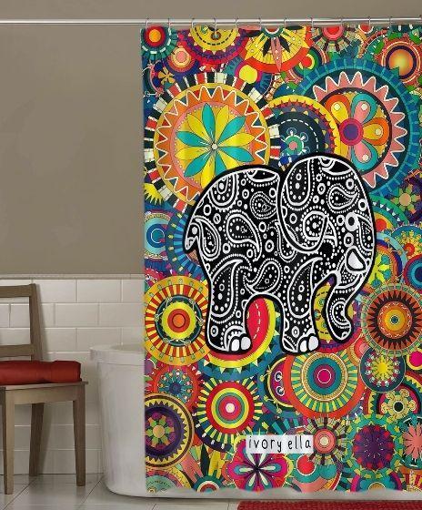 "NEW RARE Ivory Ella Pattern Vintage Art Design Custom Shower Curtain 60"" x 72"" #Unbranded #Modern"