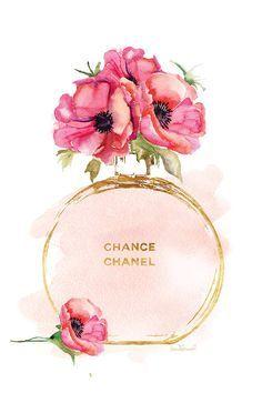 Runde Parfümflasche & Mohn Leinwanddruck von Amanda Greenwood