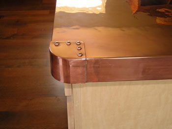 copper countertops | Copper Countertop Corner Detail
