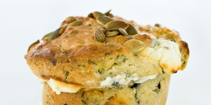 Marcus Wareing's olive and feta muffin recipe is a savoury friend for a meal or a delicious treat on its own. Fresh herbs make these olive muffins stand out.