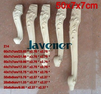 Z14-50x7x7 cm Kayu Diukir Onlay Applique Decal Kaki Meja Kerja Kayu Tukang Kayu Carpenter