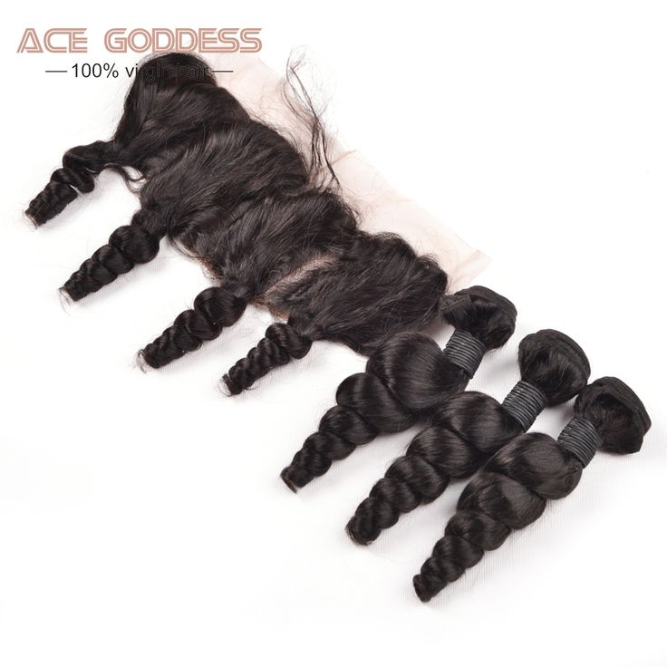 Brazilian Virgin Hair With Frontal Closure Bundle 3PCS Brazilian Loose Wave 7A 13x4 Closure Silk Virgin Lace Frontal ACE Hair