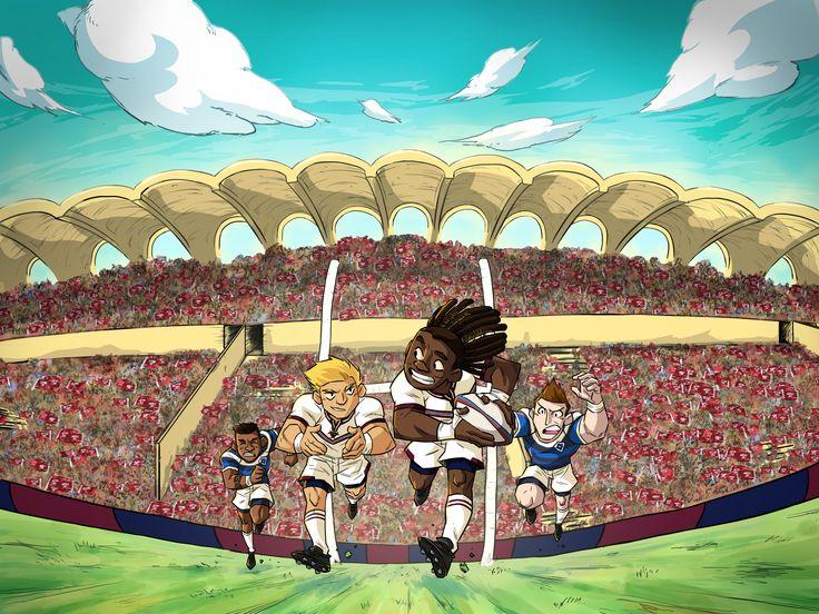 UBB - CASTRES #2D #Print #Ovalon #Rugby #UBB #Castres #Dessin #Bordeaux #Bègles #Game #Ballon