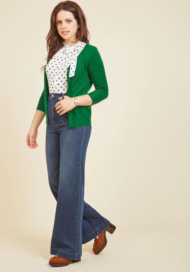 Show your style smarts in this versatile cardigan! With a buttoned front, 3/4-length sleeves, and a fine, soft knit with ribbed edges, this green sweater will be your favorite wardrobe staple. No matter how you wear it, this ModCloth-exclusive piece - with improved fabric to avoid pilling - offers an A+ look.
