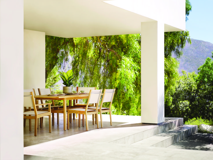 Gloster outdoor living...available at Robb & Stucky ... on Fine Living Patio Set id=85085