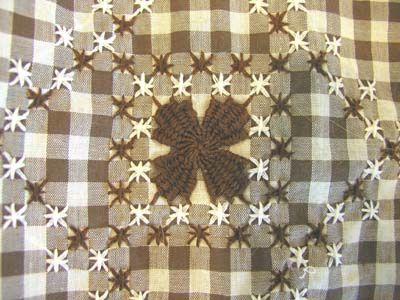Brown Gingham Apron | vintage brown gingham apron - detail v… | Bella Dia | Flickr