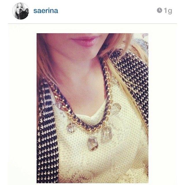Golden chain necklace & grey DIY ( -> http://www.pinterest.com/pin/312015080405413401 )  www.facebook.com/levaje.crafts http://instagram.com/levaje