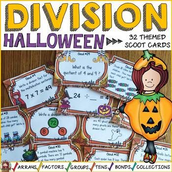 RECENTLY UPDATED: SEPT 2017 HALLOWEEN DIVISION SCOOT Review division facts and build number sense with these 32 division scoot cards featuring a fun Halloween theme.