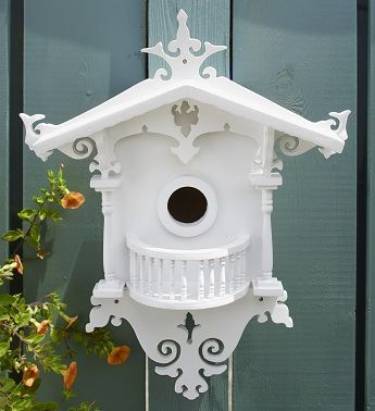 """This is a Southern Belle """" Bluebird"""" Cottage - specially designed to attract the beloved, beautiful Bluebird to its doors. This would look perfect in a quiet, cared for yard or garden. Love it!!"""