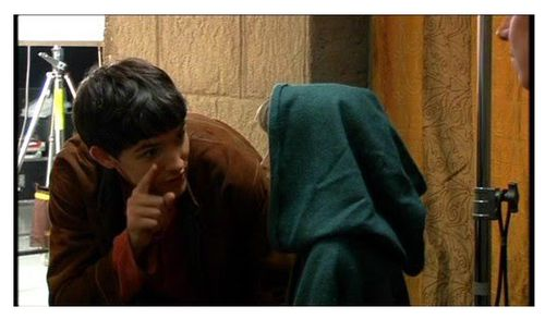 """""""Colin Morgan talking to Asa Butterfield. I didn't realize the level of cuteness until I looked at this picture for the second time."""""""