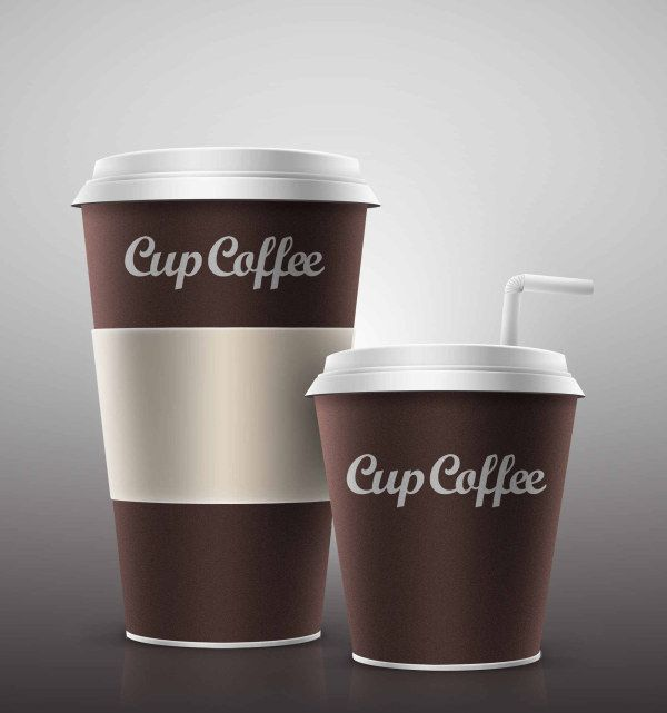 ペーパーカップのコーヒーがデザイン出来るモック PSD