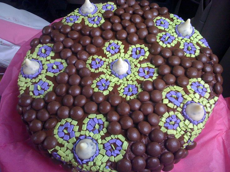 Torta de Chocolate con manjar echa para mi hija!