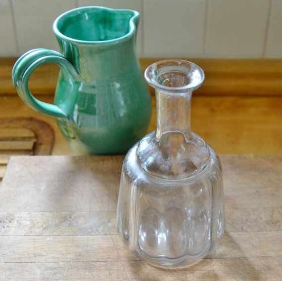 Rustic French Farmhouse Glass Decanter