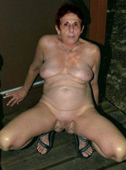 Granny flashing pussy