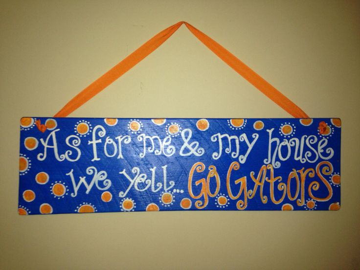 FLORIDA GATORS hand painted wooden sign by SimplyVintageThings, $30.00