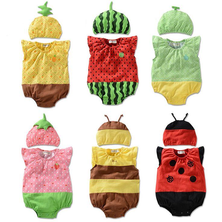 Baby Girls Jumpsuits Cute Cartoon Sleeveless Toddler Climbing Clothes 2PCS Newborn Summer Cotton Clothing Set Baby. Click visit to buy #BabyBoyClothingSets