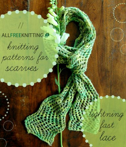 Quick, easy, and perfect for beginners, this collection of lightning fast lace scarf patterns is perfect for spring!