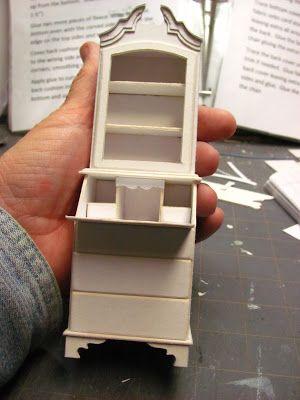 Dollhouse Miniature Furniture - Tutorials   1 inch minis: ladies secretary