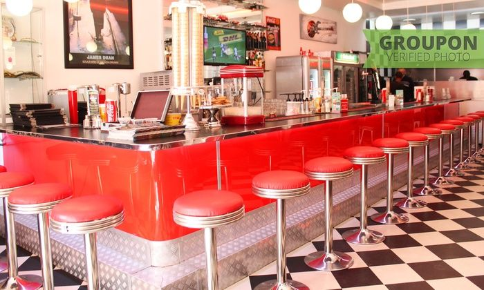Franky's Diner - Franky's Diner: Double Burger or Foot Long Hot Dog with a Gourmet Shake Each from R199 for Two at Franky's Diner (Up to 40% Off)