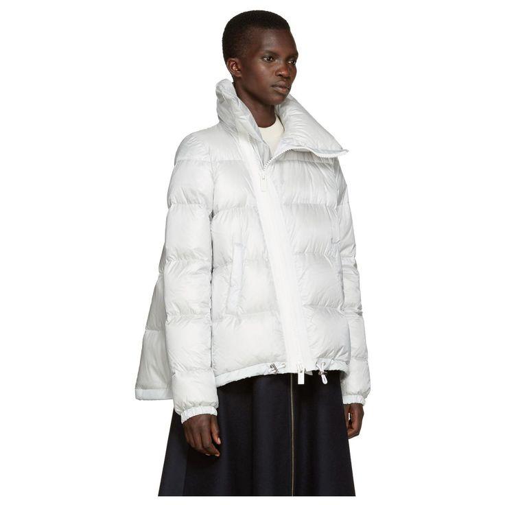 Sacai Women's Grey Trapeze Down Jacket   Shineshoesblog