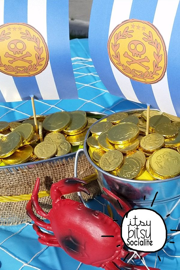 Pirate Centerpiece - Boy Birthday Printables - Pirate Party Decorations - Bucky Boat Sail Centerpiece - Inspired by Jake and the Neverland Pirates
