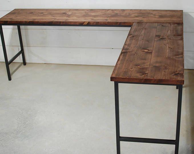 Wood Industrial Desk Rustic Wood Desk Industrial Furniture