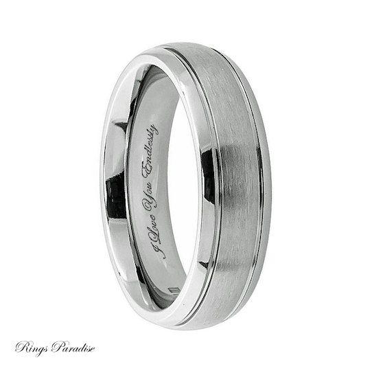Best Personalized Engraved Titanium Wedding Band by Lasercraftdesign