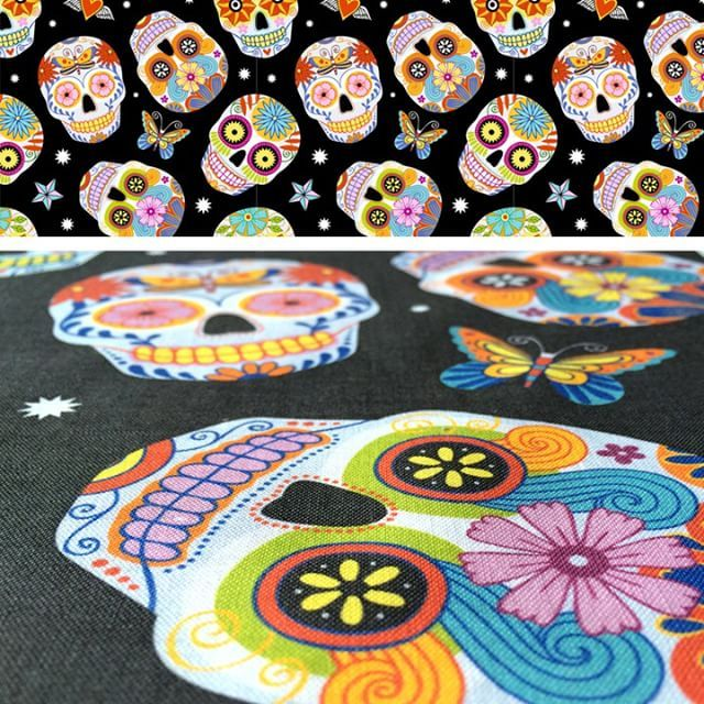 Sugar skulls is now available as #fabric, #wallpaper and #giftwrap on my Spoonflower shop, link in bio. 🎃🕸  .  #fabrics #fabriclovers #fabriclovers #fabricstash #toile #pattern #seamlesspattern #patterndesign #patternplay #fabricdesign #textiledesign #fabriclovers #fabricstash #textileart #spoonflower #konacotton