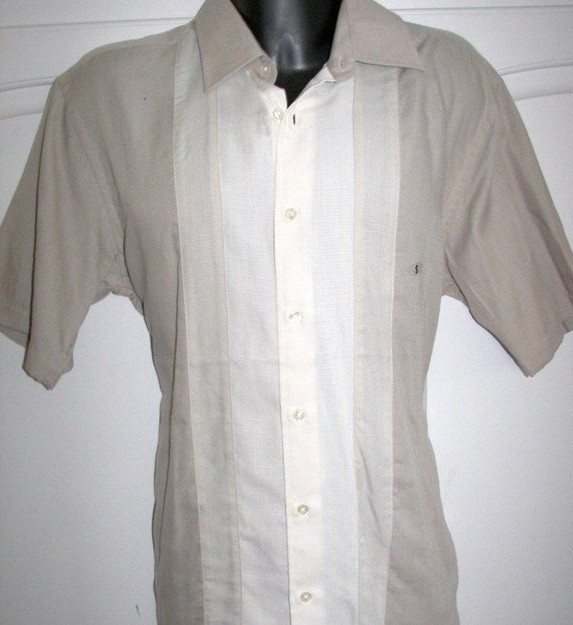 dfaf1072 Van Heusen Havanera Guayabera Cuban Style Shirt | TE Drummer Costumes and  Stuff and Things in 2019 | Shirt style, Guayabera shirt, Style