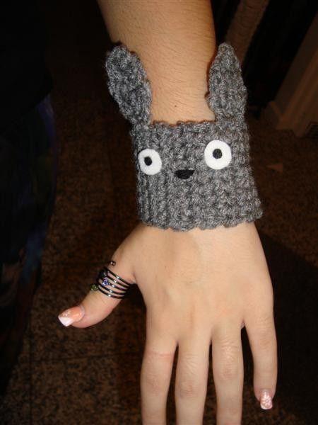 Items similar to Crochet wrist warmer bracelet CUFF my neighbor on Etsy