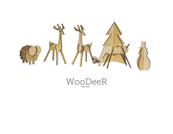 Wooden Toys cutting by laser (WooDeeR)
