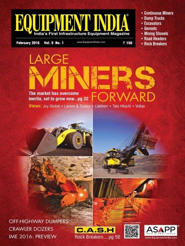 Equipment India February 2016 Issue- Large Mining Equipment | Off-Highway Dumpers.  #EquipmentIndia #MiningEquipment #Dumpers #ebuildin