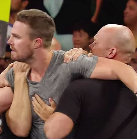 Arrow's Stephen Amell Hopped in the Ring on WWE Raw and Here's What Happened
