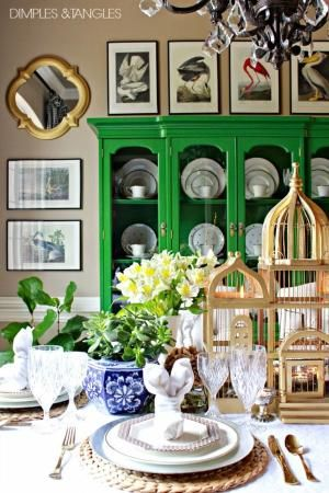 Easter, Spring Table Setting Ideas, Easter Tablescape by Divonsir Borges